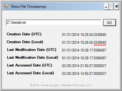 Full NTFS Timestamps